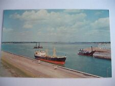 MAN MADE LAKE CORNWALL IROQUOIS ST LAWRENCE SEAWAY POWER PROJECT CANADA POSTCARD