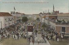 VENEZUELA MARACAIBO CENTENARIO 1910 TE DEUM AL AIRE LIBRE PLAZA BARALT