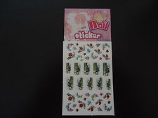 STICKERS ONGLES - lot de 10 ongles + 25 plus petits