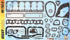 New 1951-1952-1953-1954 Hudson Hornet Big 6 308 Full Complete Engine Gasket Set