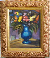 RENO DITTE (1959)~LISTED ARTIST~BOUQUET OF FLOWERS~ORIGINAL OIL PAINTING