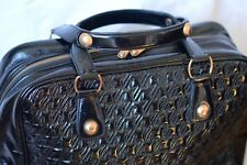 JAEGER Black leather patent weekend handbag (no shoulder straps)