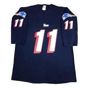 Vintage 90s PRO PLAYER New England Patriots Jersey Shirt 3/4 Sleeve sz XXL
