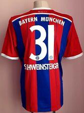 Bayern Munich 2014 - 2015 Home football Adidas shirt #31 Schweinsteiger
