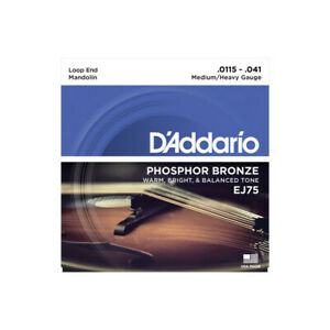 D'Addario Phosphor Bronze EJ75 11,5-41 - Jeu de cordes Mandoline