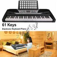 61 Key Digital Electric Piano Electronic Personal Music Keyboard For Beginner aV