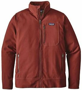 Patagonia Men's Sidesend Softshell Jacket Cinder Red M EUC