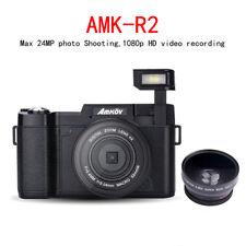 AMKOV AMK-R2 24MP 1080P HD Digital SLR DSLR Camera 4X Zoom W/ Wide-angle Lens BV