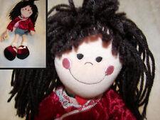 "Hot chick teen bopper Nwt 15"" yarn hair velour top and denim skirt cute"