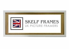 SKELF FRAMES  PHOENIX WHITE WOOD PANORAMIC PICTURE PHOTO POSTER FRAME with GLASS