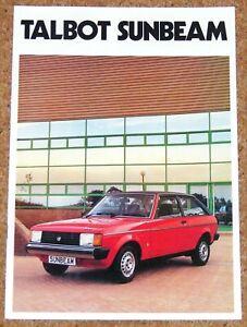 1981 TALBOT SUNBEAM Sales Brochure - Sunbeam Ti GLS GL LS - Excellent!