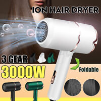 3000W 220V Electric Hair Dryer Foldable Blow Dryer Household Hair Care Drying ϟ
