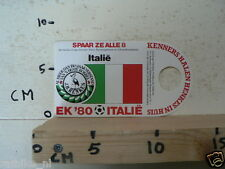 STICKER,DECAL EK 80 ITALIE VOETBAL,SOCCER JH HENKES ITALIE,ITALY A