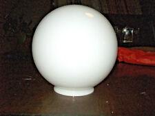 GLOBE OPALINE BLANCHE 20 cm Ø à colerette pour SUSPENSION LAMPE ART DéCO 1930 50
