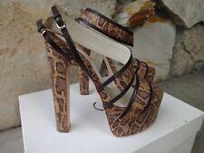 Brian Atwood *Authentic* SkyHigh Platform Sandal Snake Skin EU 37
