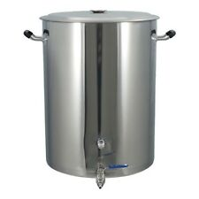 25 Gallon Brewmaster Stainless Steel Brew Kettle 2 Ports Brewing Homebrew