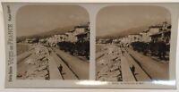 Menton Promenade Del Midi Francia Foto Stereo Vintage Analogica