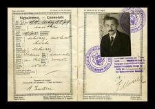 Enmarcado impresión-De Albert Einstein pasaporte original (imagen de arte cartel Física)