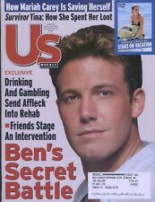 Us Weekly Magazine August 2001 Ben's Secret Battle, Stars on Vacations