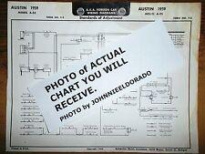 1959 Austin Series A-55 & A-40 Models AEA Wiring Diagram Chart