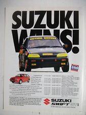 1993 SUZUKI SWIFT GTi ACTION SUZUKI WINS! AUSTRALIAN MAGAZINE ADVERTISEMENT