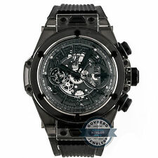 Hublot Big Bang Unico All Black Limited Edition Mens Strap Watch 411.JB.4901.RT
