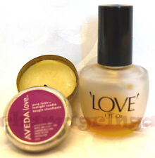 Aveda ORIGINAL CAPITALS Love oil Vintage (1983) ~ and Tea Candle LOT of 2 (used)