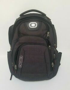 OGIO Renegade RSS 17 Laptop Backpack - Black - Gray 9 Zip Compartments Great Bag