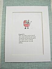 "RAGAMUFFIN CAT  Mounted Print 9x7"" Art Picture Cartoon Humour"