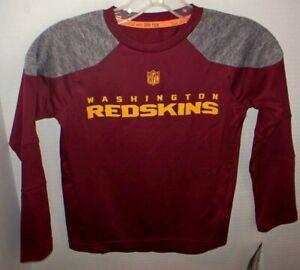 Washington Redskins Football Team NFL  Kids Size 5/6 Long sleeve Shirt Dry Tek