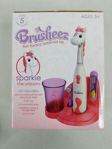 Brusheez Kid's Electric Toothbrush Set Sparkle the Unicorn NEW