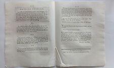 LOI relative ASSIGNATS de Cinq Livres échange coupons Milles Lires  XVIIIéme