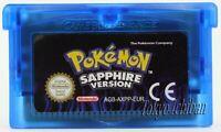 Jeu Nintendo Game Boy Advance Pokemon Saphir - Version Fr - Reproduction