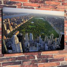 "Central Park New York Impreso Cuadro Lienzo cuadro A1.30""x20""30mm Marco Profundo"