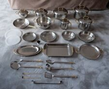 32 Pcs 18/12 Stainless Steel 24KT Gold Plated Cookware Kitchenware Pan Set Italy