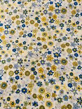 "A Ditsy 'Ibstonian' Yellow and Blue Liberty Tana Lawn 13""x 9"""