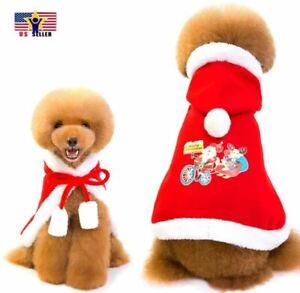 Santa Cloak Pet Elk Cape Cotton Print Clothes Thick Style Pull Dog Cat Christmas
