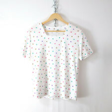 vintage 80s 90s confetti stars soft knit tee M t-shirt top kawaii vsco retro vtg