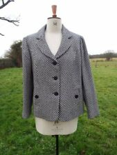 Gently Tailored EASTEX Wool Black White Patterned Lined Jacket Plus Sz 20 BNWOT