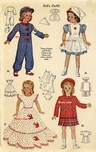 "Doll Clothing Pattern 1015 for 15"" Little Lady Shirley Anne - Effanbee F & B"