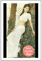 1970's Trousers and Crop Top Crochet Pattern - Copy
