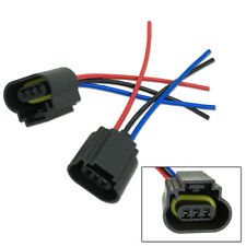 2pcs H13 9008 Led Bulbs Sockets Plug Adapter Connector Harness Wiring For Ford