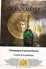 PUBLICITE ADVERTISING 094  1980  LAURENT PERRIER  champagne  CUVEE GRAND SIECLE