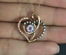 Collares y colgantes de joyería, amatista, amor y corazones