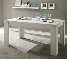 Esstisch Esszimmer Tisch weiß Pinie ausziehbar 90 x 160 200 Küchentisch Georgia