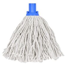 10 x 14oz Socket Mop Head Blue Floor Cleaning Industrial Heavy Colour Coded