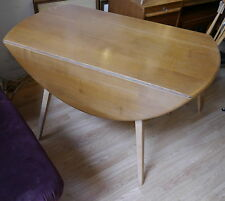 Vintage 1960s Round drop leaf Ercol dining table
