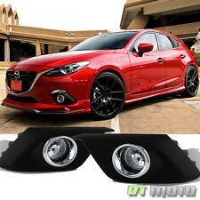 2014-2016 Mazda 3 [Glass Lens] Bumper Fog Lights Driving Lamps W /Switch Mazda 3