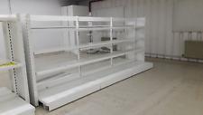 Gondole double roulantes agencement magasin étagères 3,60ml déstockage