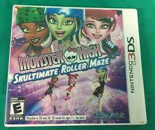 NINTENDO 3DS - MONSTER HIGH SKULTIMATE ROLLER MAZE - WITH CASE AND MANUAL - CIB